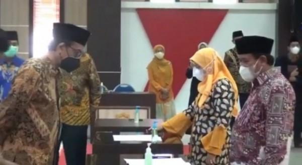 Suasana pelantikan wakil rektor 1 bidang akademik UIN Maliki Malang. (Ist)