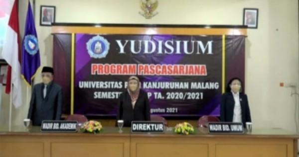 Suasana yudisium program Pascasarjana semester genap tahun akademik 2020/2021(Ist)