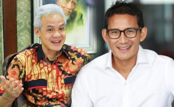 Ganjar Pranowo dan Sandiaga Uno (Foto: IST)