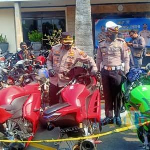 Satlantas Polres Kediri Kota Tindak 239 Pelanggar, Knalpot Brong Mendominasi