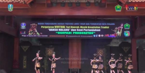 Pemerintah Kota Malang melalui Dinas Pendidikan dan Kebudayaan bersama Badan Penghubung Daerah Provinsi Jawa Timur, mempersembahkan pagelaran virtual kesenian khas Malang (Ist)