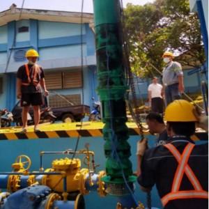 Atasi Gangguan Pelayanan, Perumda Tugu Tirta Kota Malang Perbaiki Pompa Wendit III