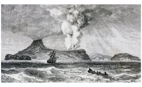 Gunung Krakatau meletus tahun 1993. (Foto: BBC)