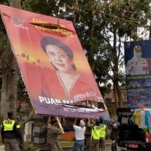 Aksi Vandalisme Baliho Puan Maharani, PDIP Kota Batu Laporkan ke Polres Batu