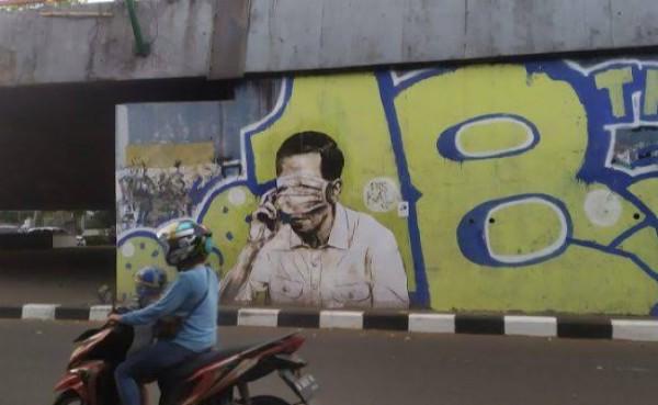 Mural Jokowi (Foto: Pojok Satu)
