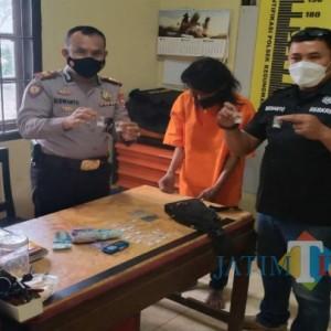 Bawa Satu Tas Sabu dan Dobel L, Pria Gondrong di Tulungagung Ditangkap Polisi
