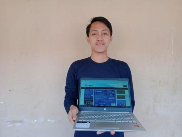 Mahasiswa Program Studi Teknik Informatika, Universitas PGRI Kanjuruhan Malang (Unikama), Yogi Khoirul Anwar lolos sertifikasi Junior Web Developer yang digelar oleh Balai Pelatihan dan Pengembangan Teknologi Informasi dan Komunikasi (BPPTIK) (Ist)