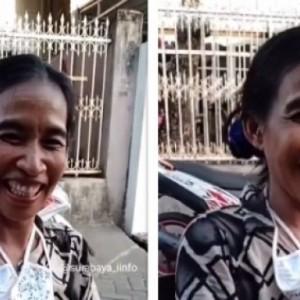 Viral Perempuan di Makassar Mirip Jokowi, Apalagi saat Senyum & Mengerutkan Keningnya