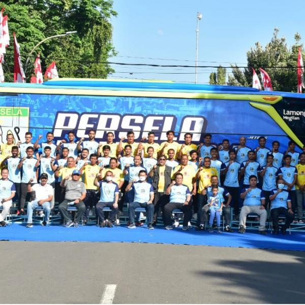 Skuad tim Persela Lamongan yang dilaunching (foto: Istimewa)