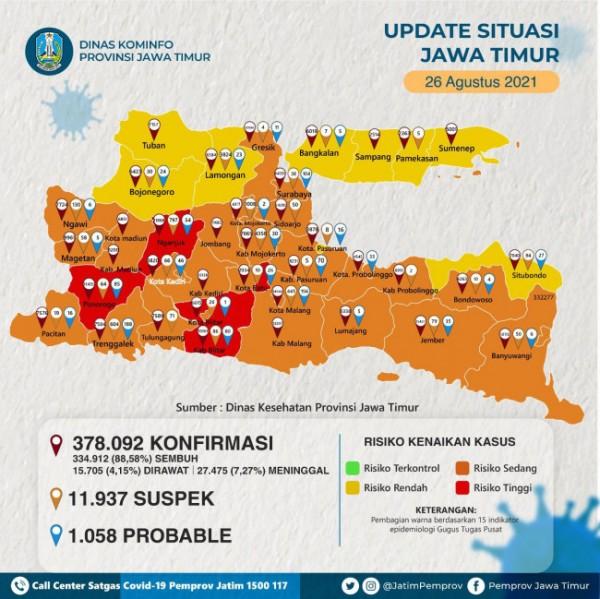 Update situasi Kota Batu. (Foto: Pemprov Jatim)