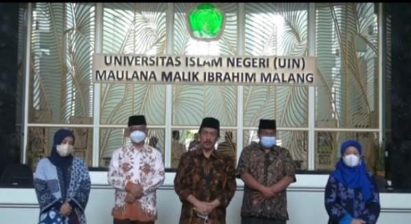Rektor UIN Maliki Malang, Prof Dr M Zainuddin MA bersama para wakil Rektor (Ist)