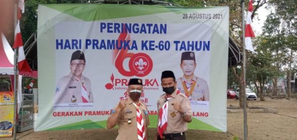 Sekretaris Komisi D yang juga sebagai Ketua Fraksi PKS DPRD Kota Malang H Rokhmad SSos saat menghadiri acara peringatan Hari Pramuka Ke-60 di Pusdiklatcab Witaraga Sawojajar Kota Malang, Sabtu (28/8/2021). (Foto: Dok. Fraksi PKS DPRD Kota Malang)