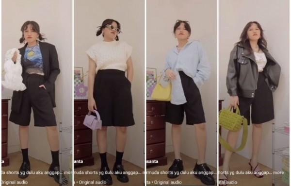 Inspirasi tampil stylish dengan celana pendek. (Foto: Instagram @steffisanta).
