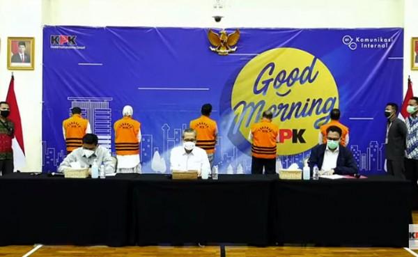 Konferensi pers kasus bupati Probolinggo oleh KPK. (Foto: YouTube KPK RI)