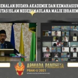 Rektor UIN Malang Buka PBAK 2021, Tekankan Karakter Ulul Albab kepada 3.794 Mahasiswa Baru