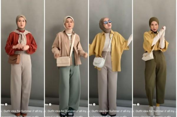 Inspirasi summer outfit buat hijabers. (Foto: Instagram @inasrana).