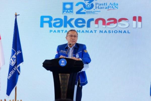 Ketua Umum DPP Partai Amanat Nasional (PAN) Zulkifli Hasan saat membuka forum Rapat Kerja Nasional II PAN di Rumah PAN, Jakarta Selatan, Selasa (31/8/2021). (Foto: Dokumentasi PAN)
