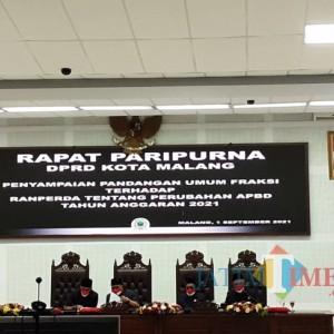 Fraksi DPRD Kota Malang Soroti PAD dan Penanganan Covid-19 di Ranperda APBD-P 2021