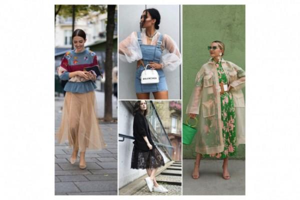 Inspirasi busana transparan untuk daily outfit. (Foto: Berbagai sumber).