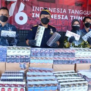 Pemkab dan Bea Cukai Gresik Amankan Ratusan Ribu Batang Rokok Ilegal