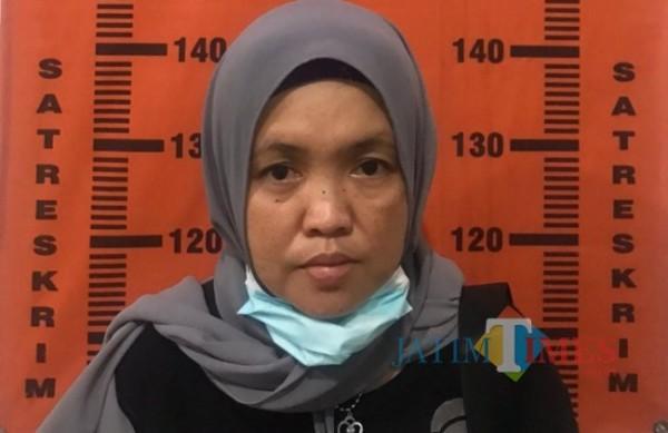 Pelaku penggelapan uang Umroh yang berhasil diamankan polisi (foto : Polsek Jenggawah for Jember TIMES)