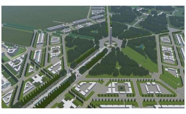 Rencana denah ibu kota baru di Kalimantan Timur. (Foto: Liputan6.com)