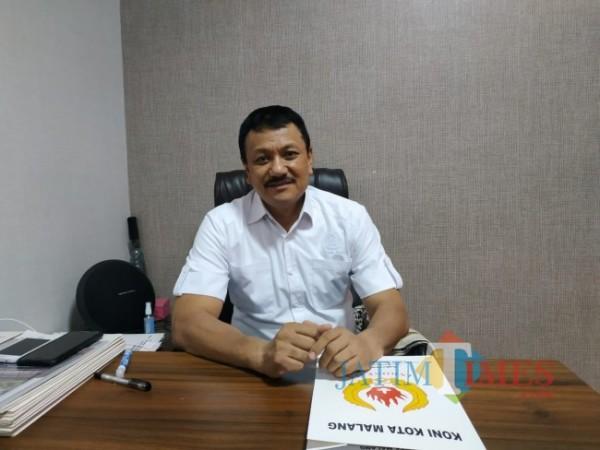 Ketua Umum KONI Kota Malang, Eddy Wahyono (Hendra Saputra/MalangTIMES)