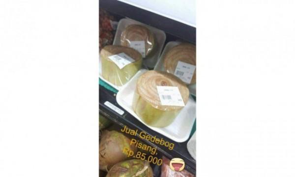 Gedebog pisang yang dijual di salah satu supermarket di Amerika. (Foto: istimewa)