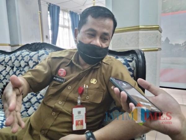 Kepala DPMD Kabupaten Malang, Suwadji.(Foto:Riski Wijaya/MalangTIMES).