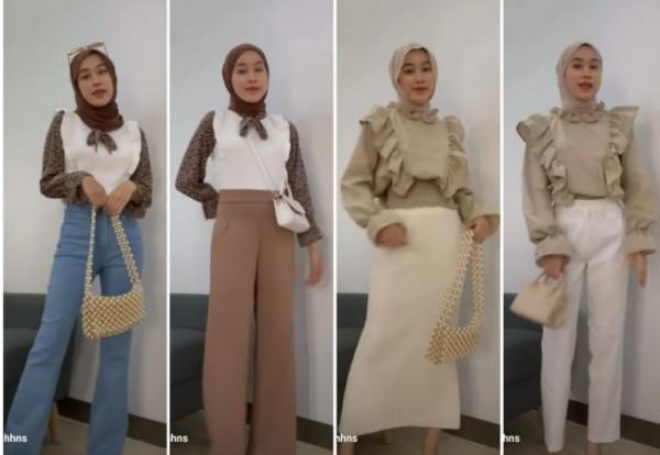Inspirasi padu padan blouse Korea anti ribet tapi tetap stylish. (Foto: Instagram @afiqahhns).