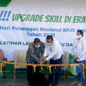 BPJS ketenagakerjaan Kediri Rayakan Hari Pelanggan Nasional 2021