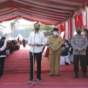 Masyarakat Kota Blitar Antusias Ikuti Program Vaksinasi, Presiden Jokowi Beri Apresiasi