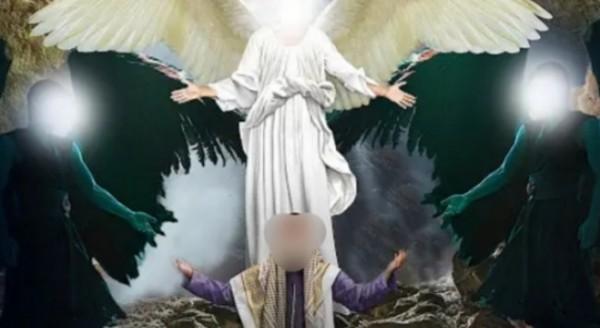 Ilustrasi malaikat turun ke bumi (istimewa)