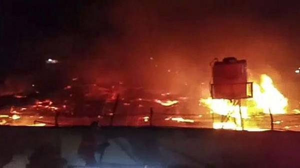 Lapas Tangeran Terbakar (Foto: CNN Indonesia)