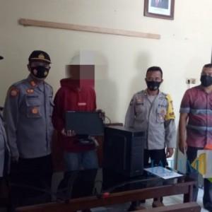 Ketahuan 2 Kali Maling Komputer Sekolah MI, Bocil Diamankan Polsek Bangilan Tuban