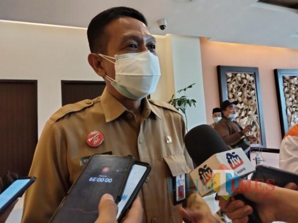 Sekda Kabupaten Malang, Wahyu Hidayat.(foto: Riski Wijaya/MalangTIMES).
