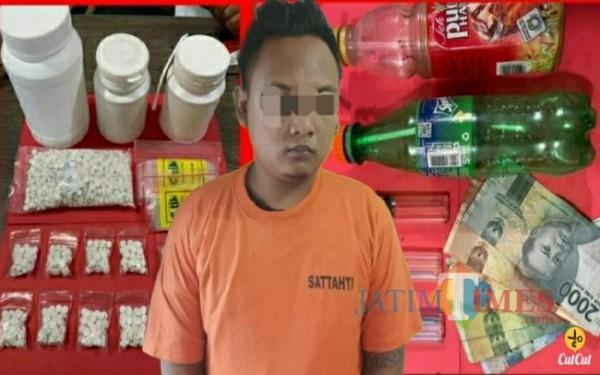 Tersangka SAP asal Sragen Jawa Tengah dan Barang buktinya / Foto : Dokpol / Tulungagung TIMES