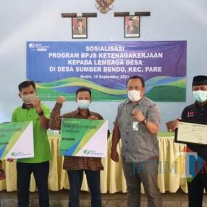 Lindungi RT/RW dan Lembaga Desa, BPJS Ketenagakerjaan Kediri Gelar Sosialisasi Manfaat Program
