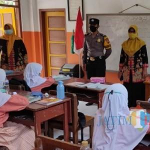 Pastikan PTM Terbatas di Tulungagung Patuhi Prokes, Polisi Monitoring Sekolah