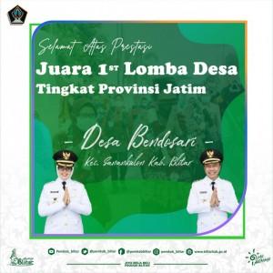 Top! Desa Bendosari Blitar Juara 1 Lomba Desa Tingkat Provinsi Jawa Timur
