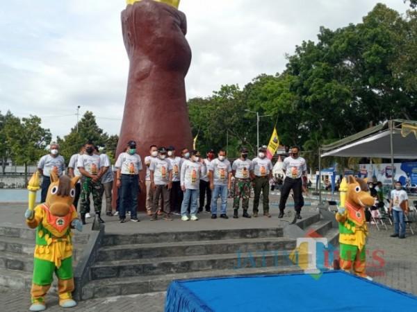 Forkopimda Bersama Si Rancak (Foto: Bramastyo Dhieka Anugerah /Jatim Times)