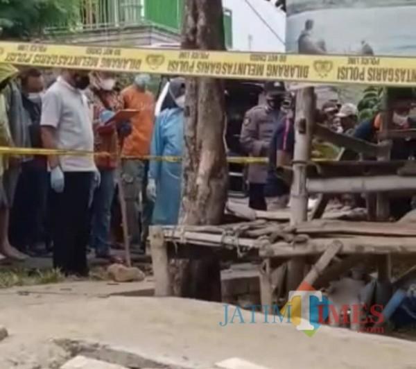 Lokasi Kejadian Perkara Tewasnya Korban Di Kecamatan Kerek, Kabupaten Tuban (11/09/2021) (Foto WA warga Kerek for JatimTIMES)