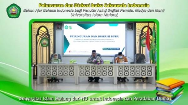 Peluncuran dan bedah buku Cakrawala Indonesia, Bahasa Indonesia bagi Penutur Asing yang dilakukan secara daring (Ist)