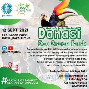 Peduli Satwa, Gekrafs Bantu Pakan Pengelola Wisata Eco Green Park