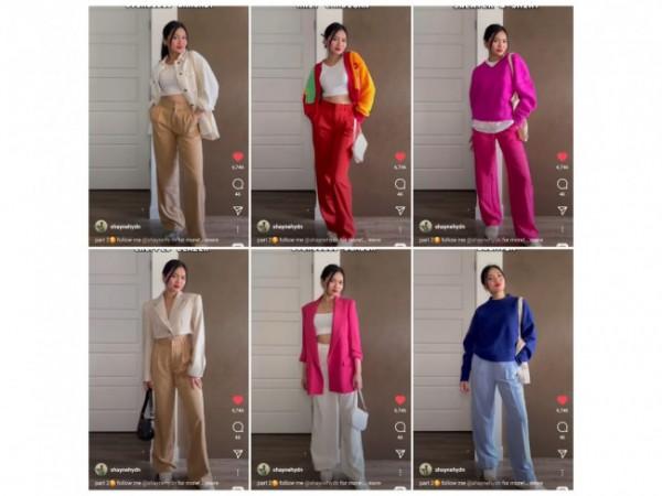 Inspirasi pemakaian trousers untuk daily outfit. (Foto: Instagram @shaynehydn).
