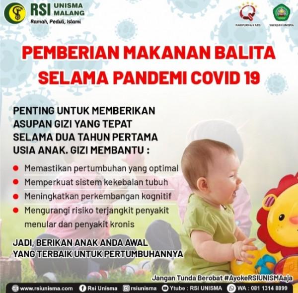 Pentingnya memberikan asupan gizi yang tepat kepada anak (Ist)