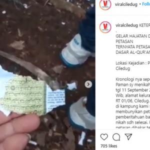 Heboh Lembaran Alquran Jadi Bungkus Petasan, Polisi Turun Tangan