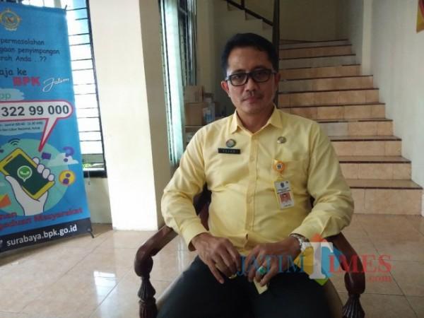 Fajar Shidiq, SE dari Kantor Samsat Lumajang ( Foto : Asmadi / JatimeTIMES )