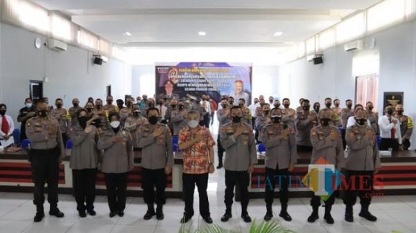 Kegiatan sharing komunikasi dan motivasi di jajaran Polres Tuban (13/09/2021). (Foto Humas /Jatim TIMES)