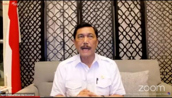 Menko Marves Luhut Binsar Pandjaitan. (Foto: Screenshoot YouTube Sekretariat Presiden).